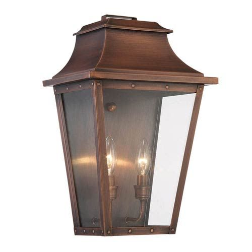 Acclaim Lighting Coventry Copper Patina 17 Inch Two Light Outdoor Wall Mount 8424cp Outdoor Wall Mounted Lighting Outdoor Light Fixtures Wall Mount Light Fixture