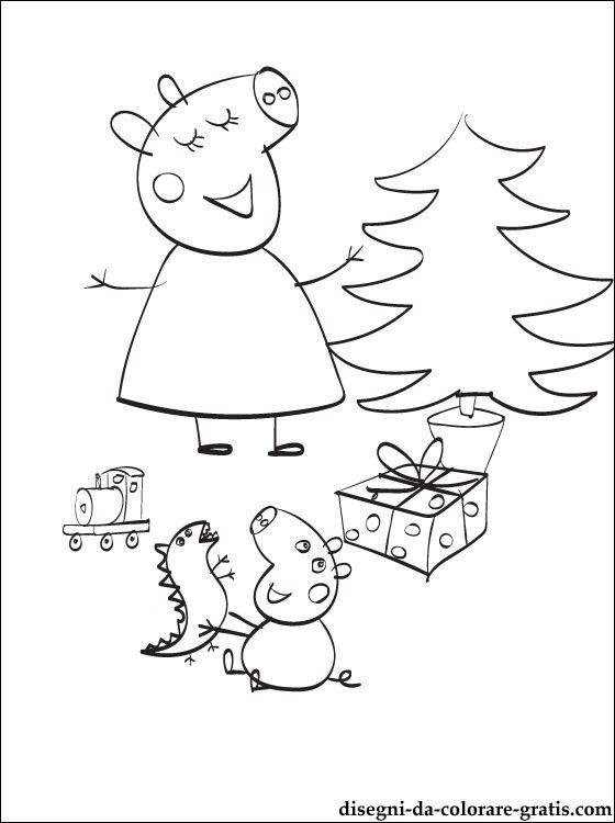 Peppa Pig Babbo Natale Da Colorare.Peppa Pig Natale Da Colorare Pagine Da Colorare Di Natale Disegni Da Colorare Peppa Pig