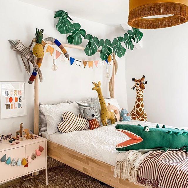 Image May Contain Bedroom And Indoor Regram Via Www Instagram Com P B2pep1kbghy Scandi Kids Room Toddler Rooms Safari Room Toddler jungle bedroom ideas