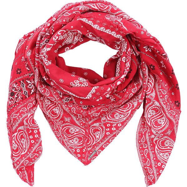 Diesel SBANNA Scarf ($78) ❤ liked on Polyvore featuring accessories, scarves, other accessories, red, women, cotton shawl, red handkerchief, red shawl, red scarves and diesel scarves