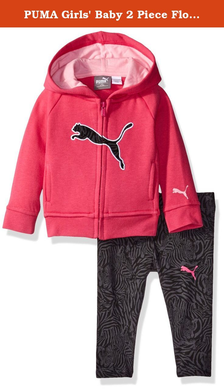 a9fde6b32 PUMA Girls  Baby 2 Piece Floral Print Long Sleeve Tee and Legging ...