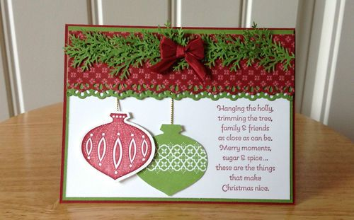 handmade christmas card kit ornaments made with mostly