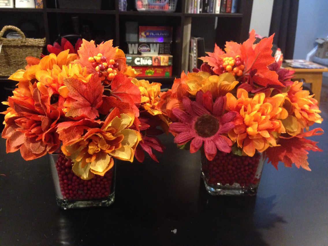 Fall Fake Flower Arrangement All Dollar Store Items