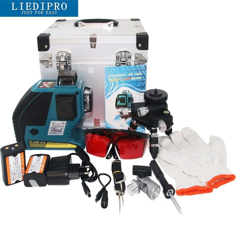Universe Of Goods Buy Liedipro Outdoor Available 12 Line 3d Laser Level Self Leveling 360 Degr Horizontal And Vertical Cross Red Red Beam Laser Levels Beams