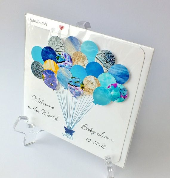 Card Making Ideas New Baby Boy Part - 38: Handmade 3D Personalised New Baby Boy Card 3D By CardsbyGaynor, £3.95