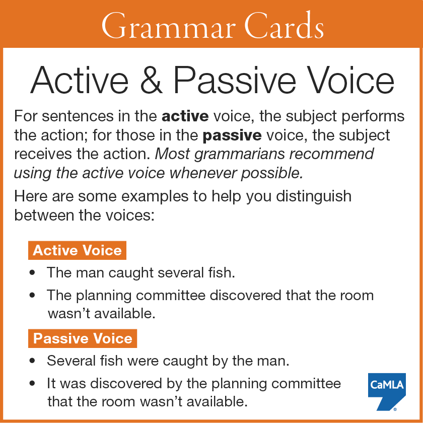 transform passive to active voice