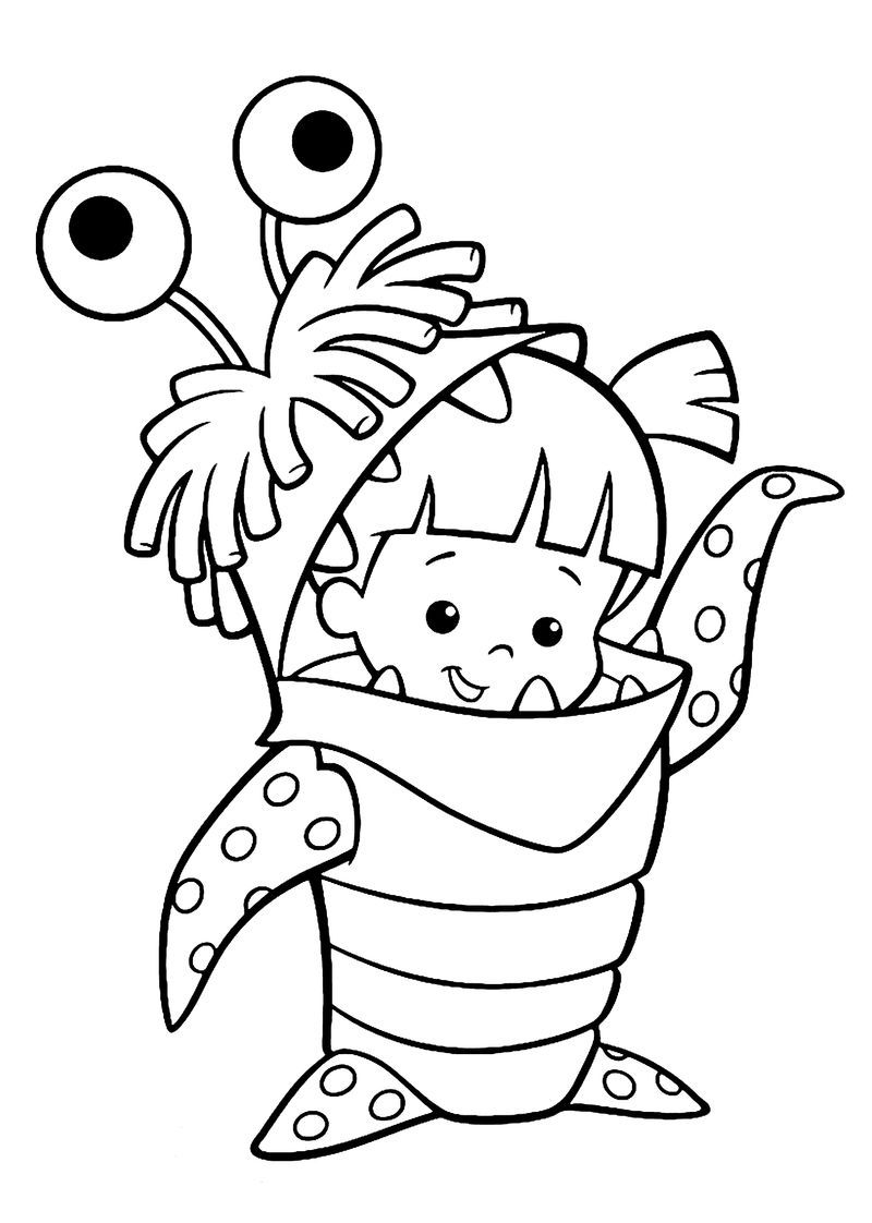 Cute Monsters Costume Coloring Page Monster Coloring Pages