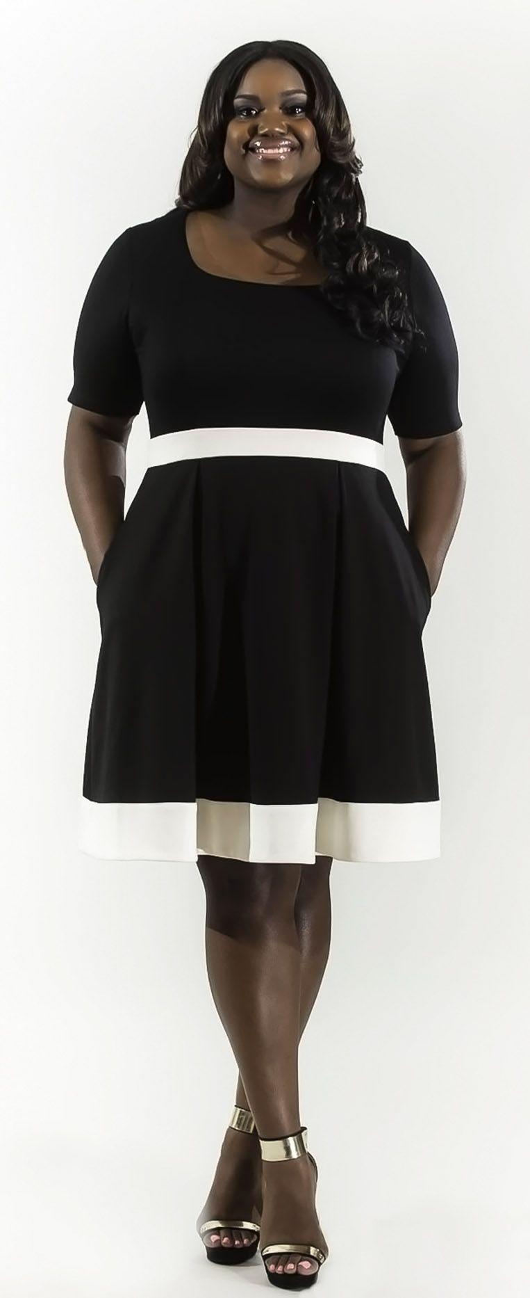 Short Sleeve Ponte Knit Skater Dress | Dama Talya | My Style ...