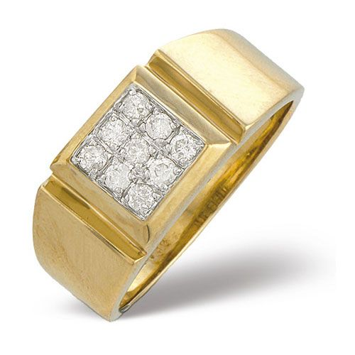 Diamond Essentials 0 33 Ct Gents Diamond Ring In 9 Ct Yellow Gold From The Diamond Essentials Collection Diamond Rings Design Mens Gold Rings Men Diamond Ring