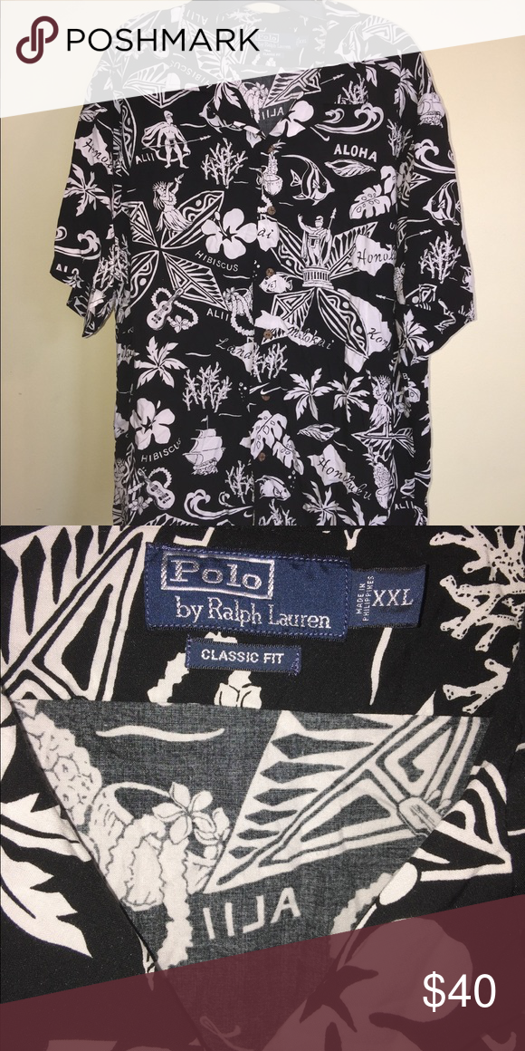 c7abaa5f Men's Polo Ralph Lauren Hawaiian Shirt Size XXL. This is a men's Polo Ralph  Lauren
