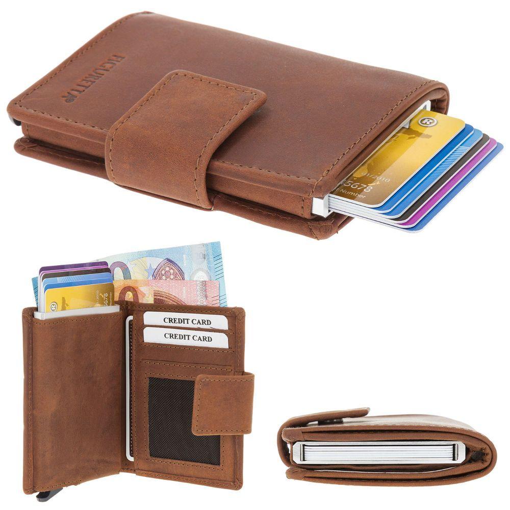 Geldbörse FIGURETTA WALLET Mini RFID Blocker Leder Ledergeldbörse ...