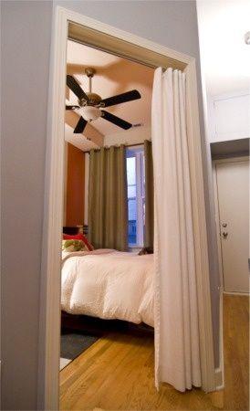 Curtain Closet Doors Hotel Style Curtain Tracks Instead Of Closet Doors In Bathroom Curtains For Closet Doors Diy Closet Doors Door Curtains