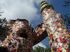 The Emperor by Niki de Saint Phalle (the Tarot Garden)