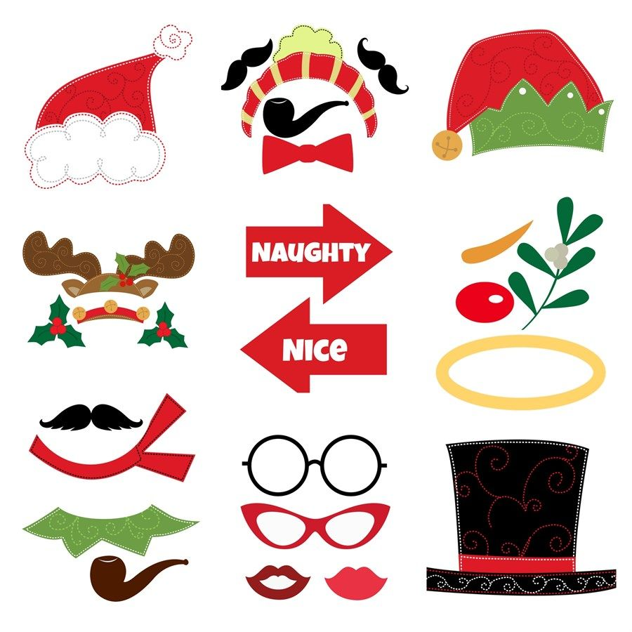 It's just a graphic of Free Printable Christmas Photo Booth Props with tropical