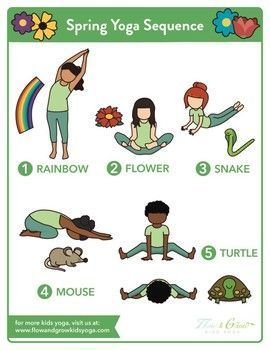kids yoga summer sequence yoga pose poster  kids yoga