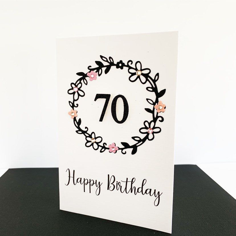 Pin On 70th Birthday Cards