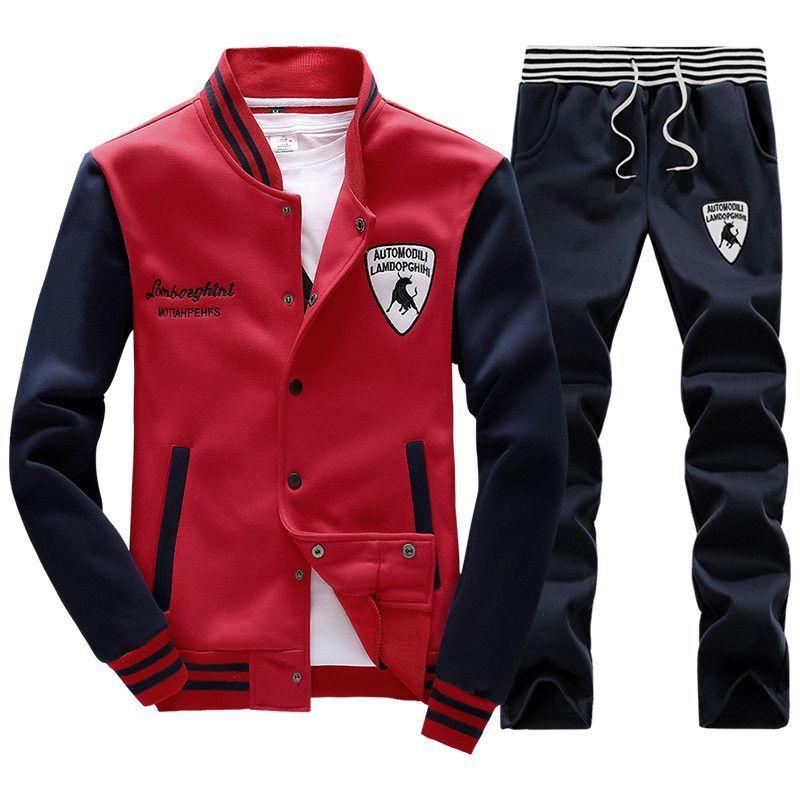 Men s Sports Suit with Lamborghini Patchwork   Men s Fashion   Mens ... 077ba659cdf