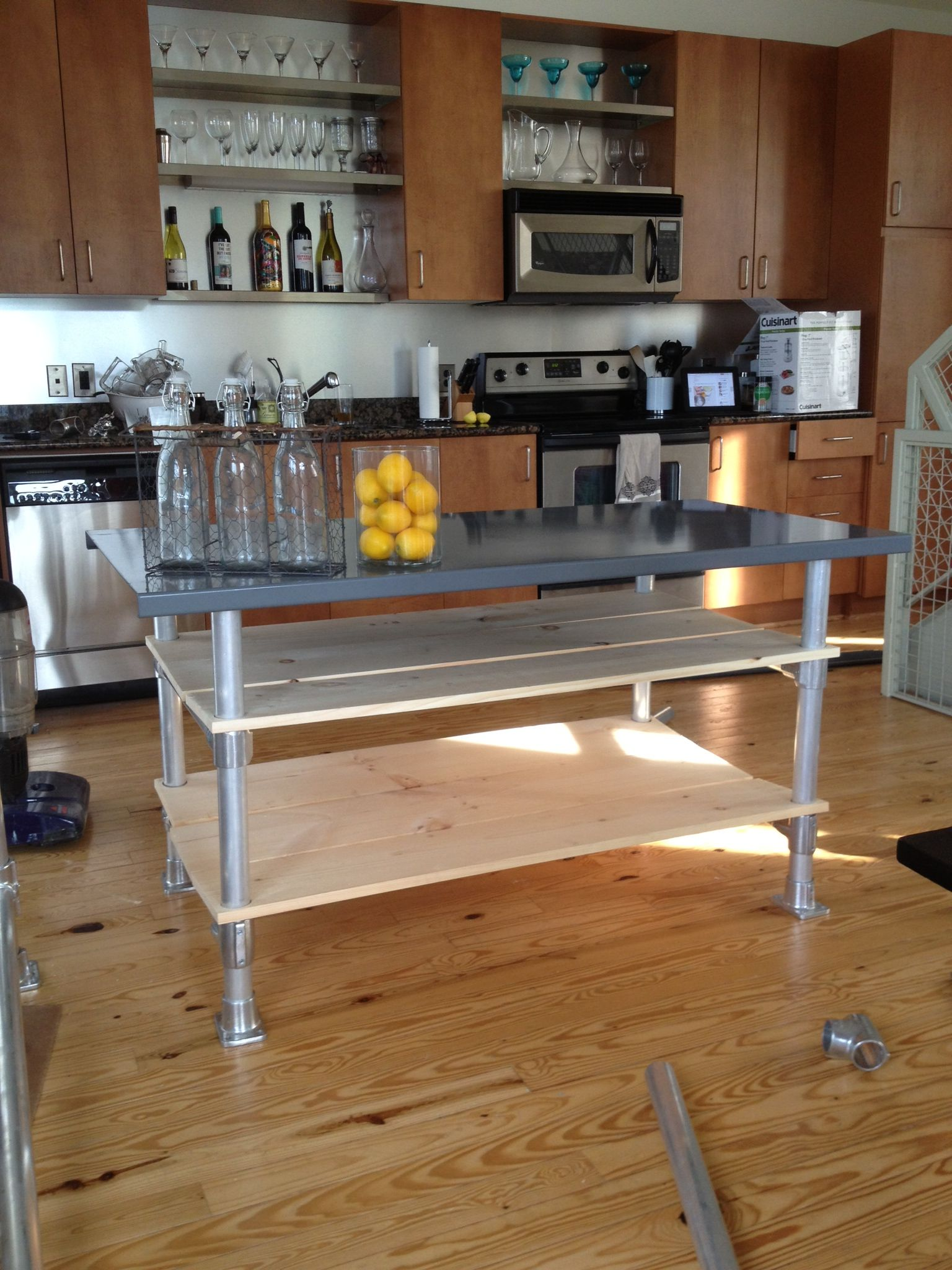 Drawing of Kitchen Island on Casters | Kitchen Design Ideas ...