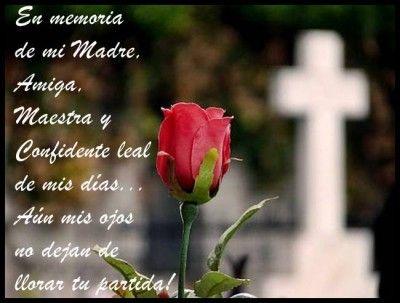 En Memoria De Una Madre Fallecida Frases Para Madres Fallecidas Oracion Para Mi Madre Frases Para Madres
