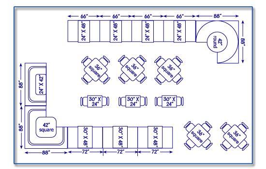 Seatingexpert restaurant seating chart design