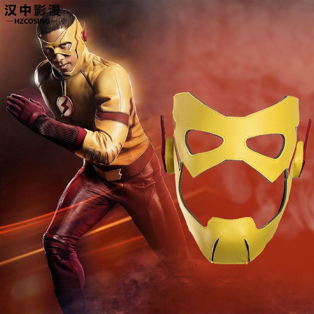 HZYM The Flash Kid Flash Cosplay Mask Halloween Full Face