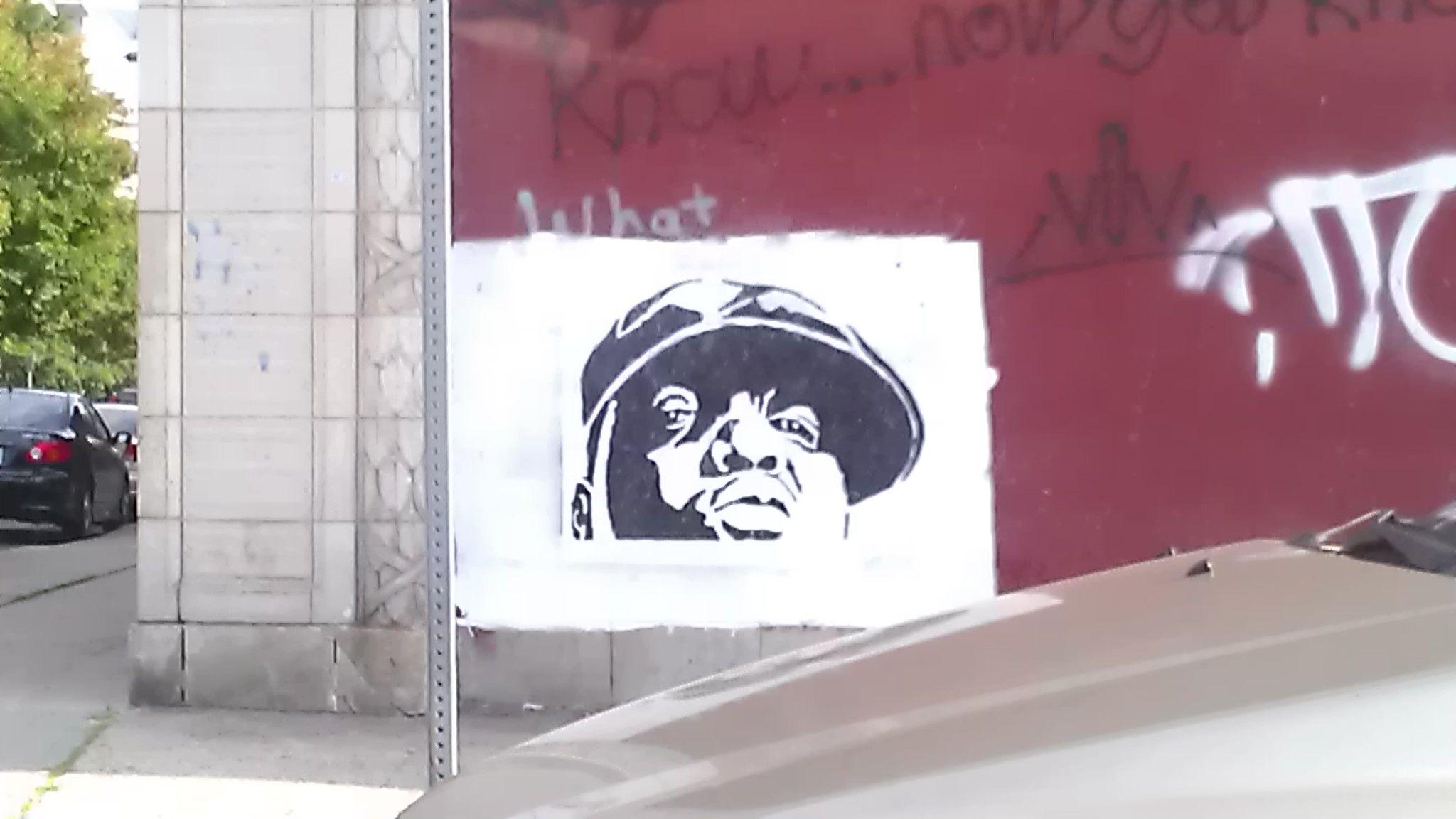 Biggie Street Art, Newark NJ Cool art, Street art, Home