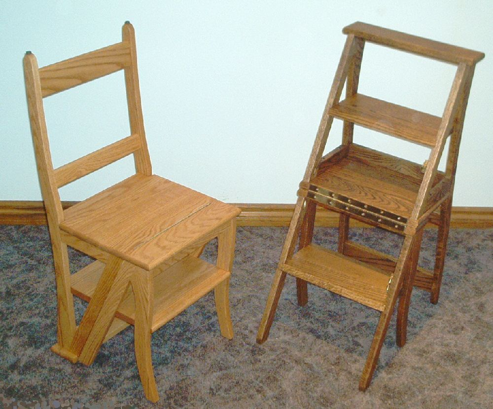 Old Chair Stepstools Wood Chaise Escabeau Step Stool Chair  # Plan Des Meubles