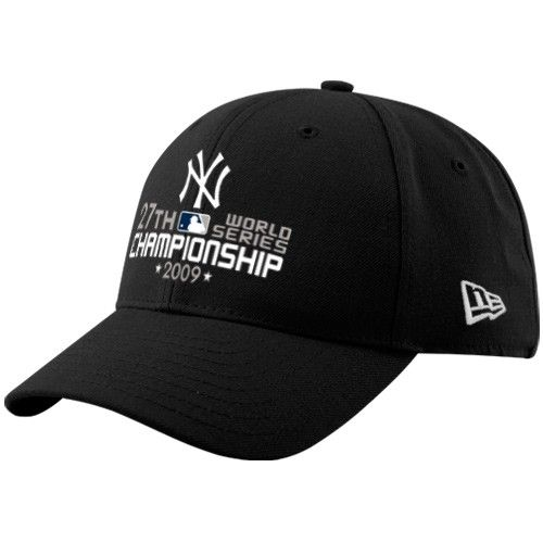 New Era New York Yankees Black 2009 World Series Champions 27-Time  Champions Wool Blend Structured Adjustable Hat 75a26fdfe1d0