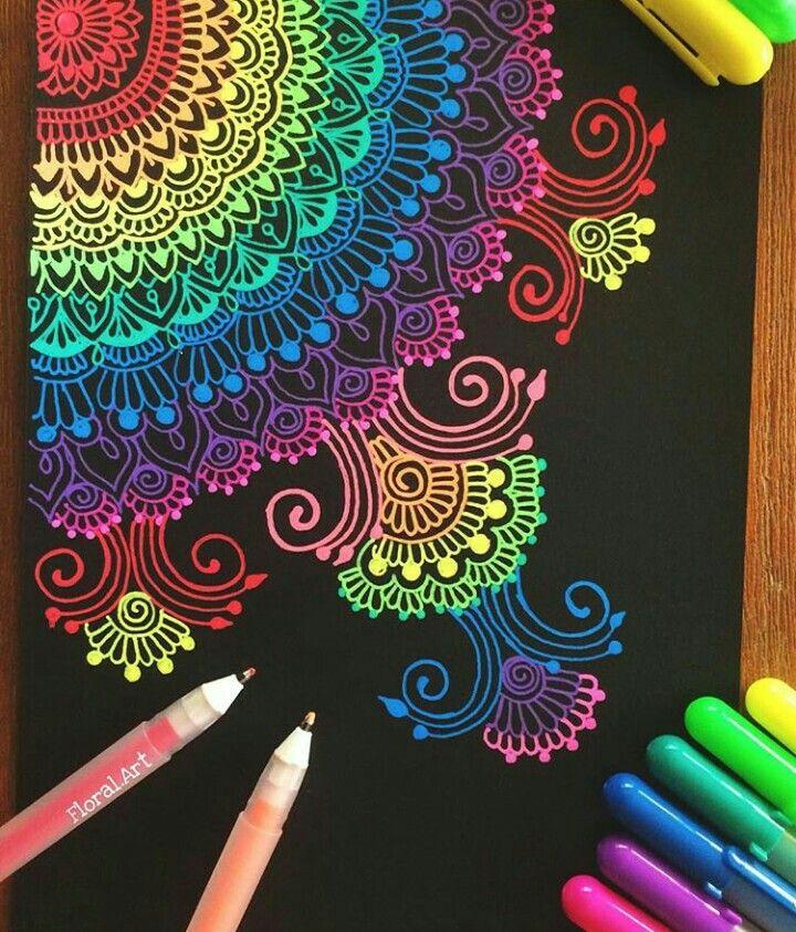 Pinterest Carolina Itzel More Crafting Diy Center Gel Pen Art Pen Art Mandala Drawing