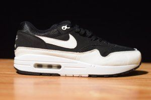 official photos e8be3 ae3b1 Mens Womens Nike Air Max 1 Black White 319986 034 Running Shoes