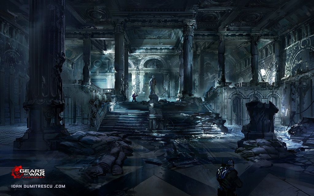 Courthouse Entryhall Copy1 Copy By Jonone On Deviantart Concept Art Fantastic Art Indoor Places