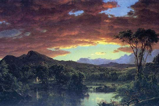 A Rural Home By Frederic Edwin Church Art Print With Images