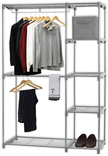 Simple Houseware Freestanding Clothes Garment Organizer Closet In