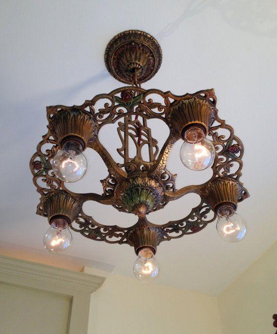 Antique Hanging Light Fixture, J. D. Virden 'Winthrop' Line, circa ...:Antique Hanging Light Fixture J. D. Virden by Somethingcharming,Lighting