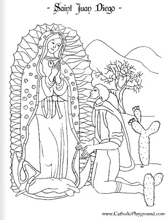 saint juan diego coloring page december 9th