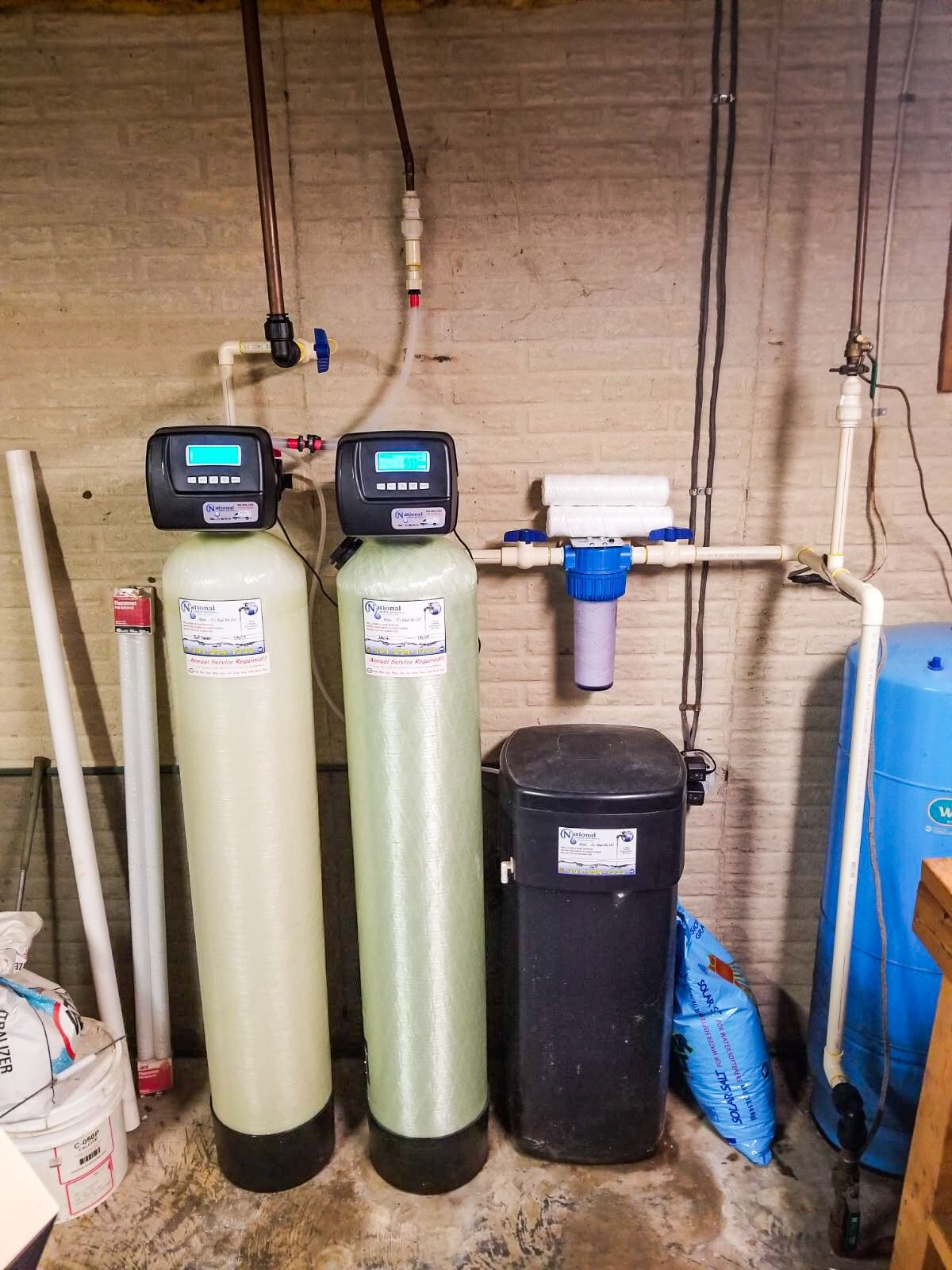 We installed a 3 piece Whole House Sediment Filter for