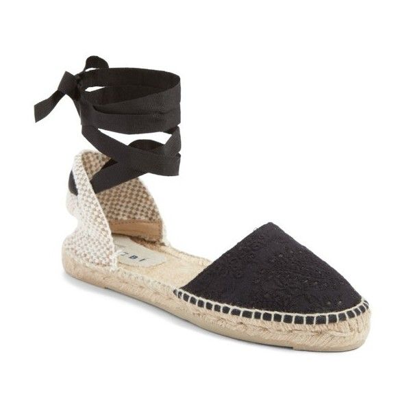 41a3ff5fe Women's Manebi Paris Lace-Up Espadrille Sandal ($135) ❤ liked on Polyvore  featuring shoes, sandals, indian fabric, laced sandals, manebi espadrilles,  laced ...