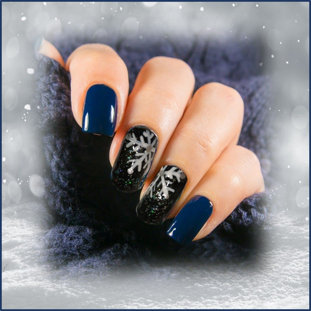 Fun Diy Snowflake Winter Themed Nail Art Design Best Nails