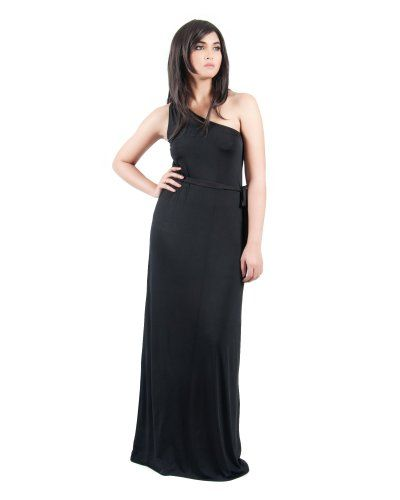 Koh Koh Women's One Shoulder Cocktail Evening Elegant Long Gown Maxi Dress