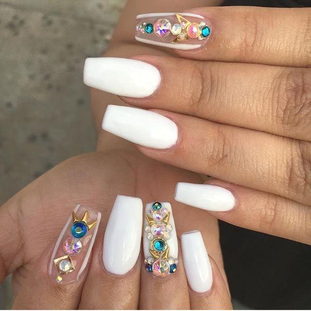 Beautiful White Nailsexotic Nails Printablexpressions Nail