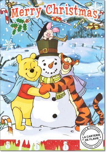 Cartes Disney Noel Winnie Offrez Une Vraie Et Jolie Carte Livraison Gratuite A Retrouver Disney Winnie Tigrou Cartes Disney Carte Anniversaire Carterie