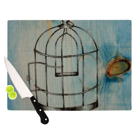 Bird Cage Cutting Baord @KESS InHouse  http://kessinhouse.com/collections/brittany-guarino-bird-cage/products/brittany-guarino-bird-cage-cutting-board