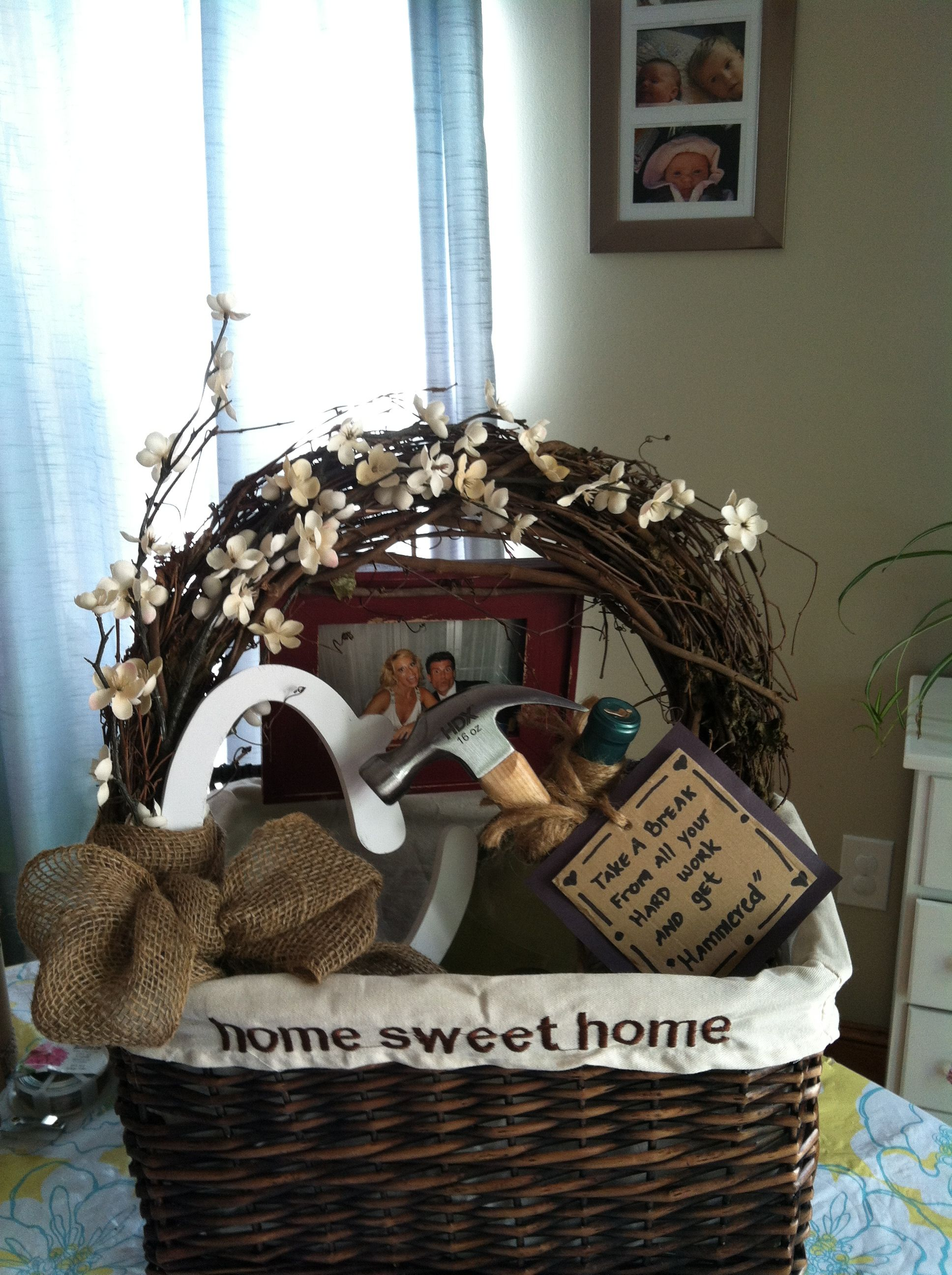 House warming gift can make wreath house warming
