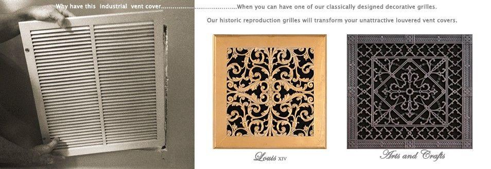 historic decorative grilleshistoric grilleshistoric vent covers
