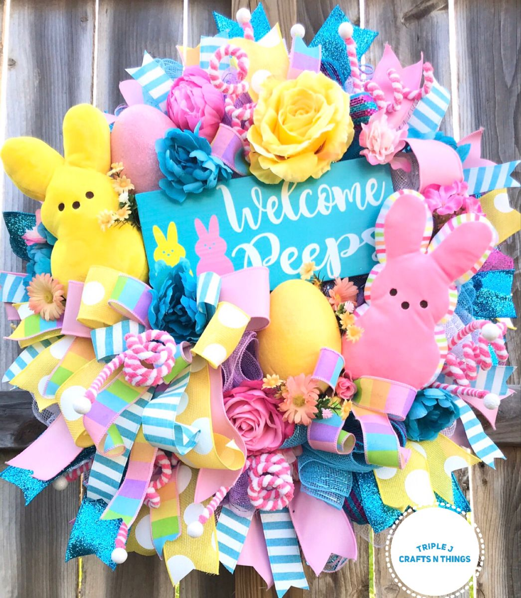 Photo of Easter wreath, Easter looks, pastel wreath, spring wreath