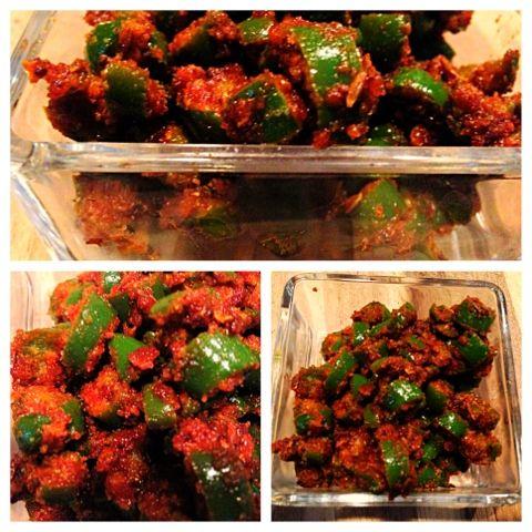 Homemade Veg Zone: Green Chili Pickle