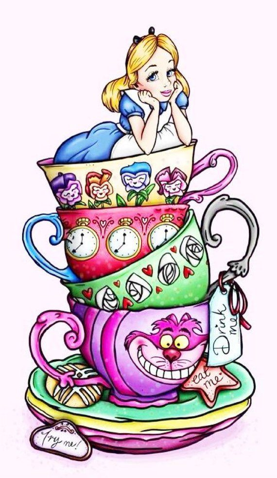 Photo of BUY 2 GET 1 FREE! Alice in Wonderland Disney Fan Art 373 Cross Stitch Pattern Co…
