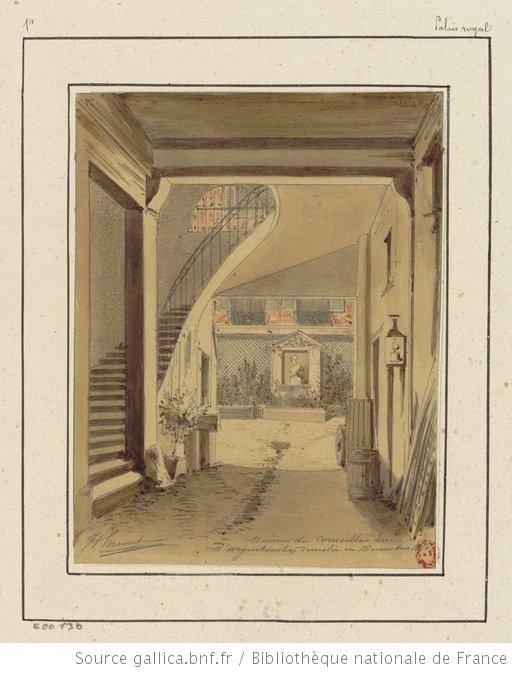 Maison de Corneille rue du0027Argenteuil, démolie en Décembre 1876