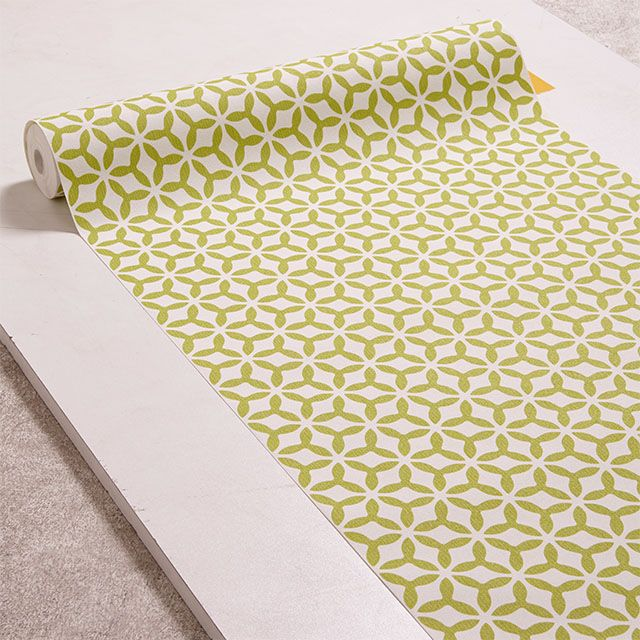 papier peint vinyle sur intiss superfresco helice vert. Black Bedroom Furniture Sets. Home Design Ideas