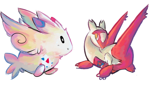 herbalmoontea:  Togekiss and Latias for anon   please dont...